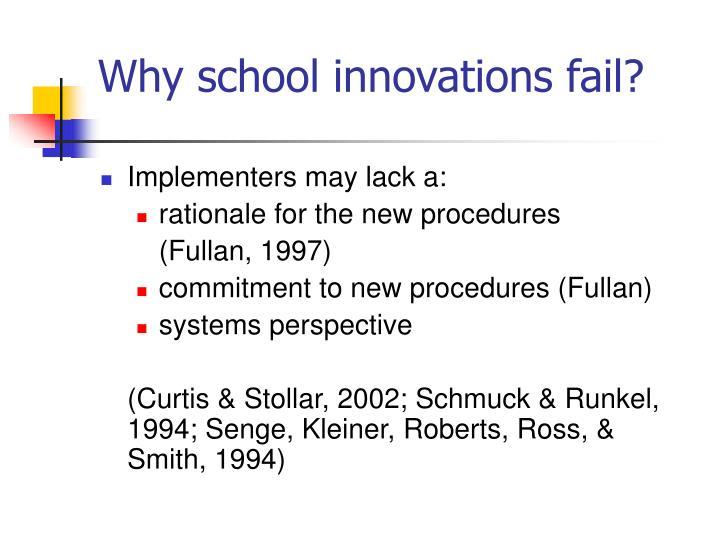 Why school innovations fail?
