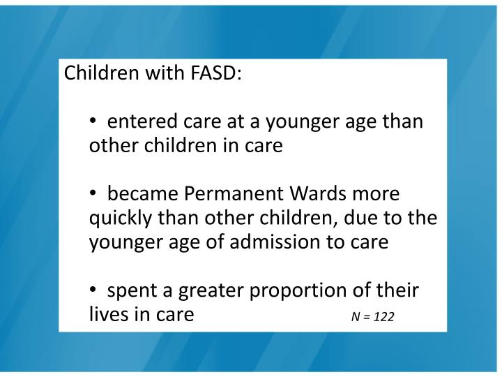Children with FASD: