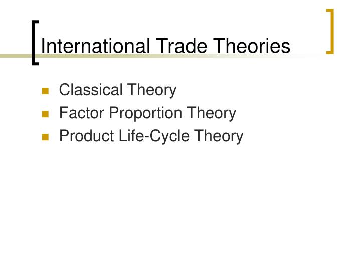 product life cycle theory The product life cycle theory was developed originally by raymond vernon in the sixties he theorized and later provided empirical proof that new products go through.