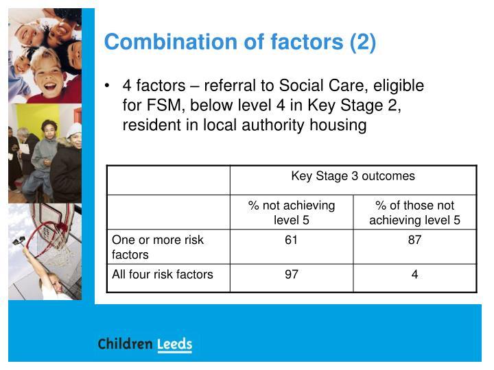 Combination of factors (2)