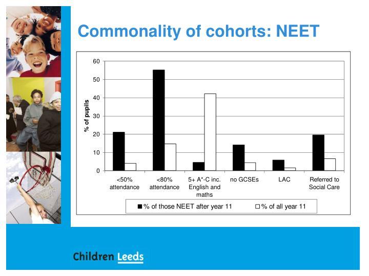 Commonality of cohorts: NEET