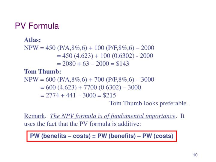 PV Formula