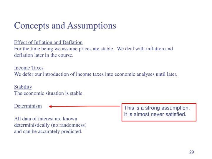 Concepts and Assumptions