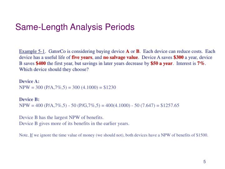 Same-Length Analysis Periods