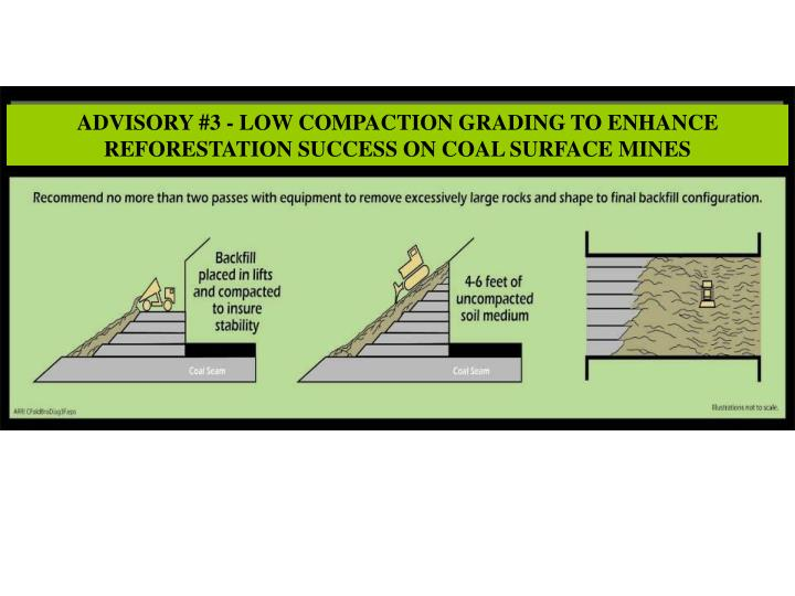 ADVISORY #3 - LOW COMPACTION GRADING TO ENHANCE REFORESTATION SUCCESS ON COAL SURFACE MINES