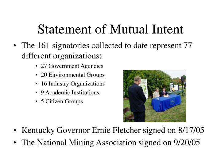 Statement of Mutual Intent