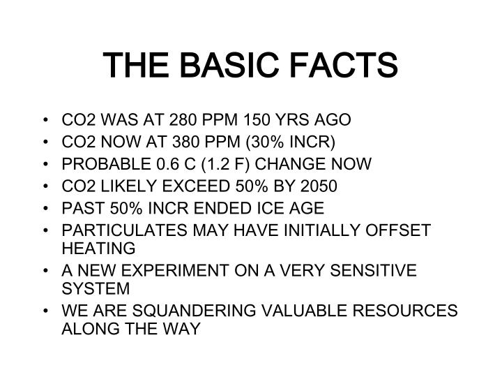 THE BASIC FACTS