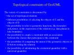 topological constraints of geouml2