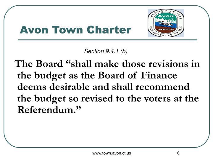 Avon Town Charter