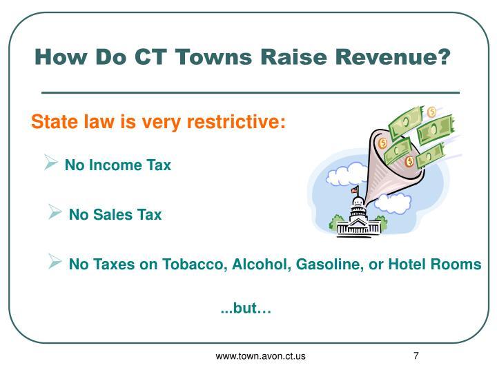 How Do CT Towns Raise Revenue?