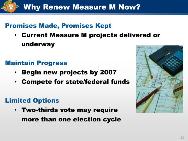 Why Renew Measure M Now?