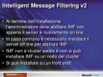 intelligent message filtering v21