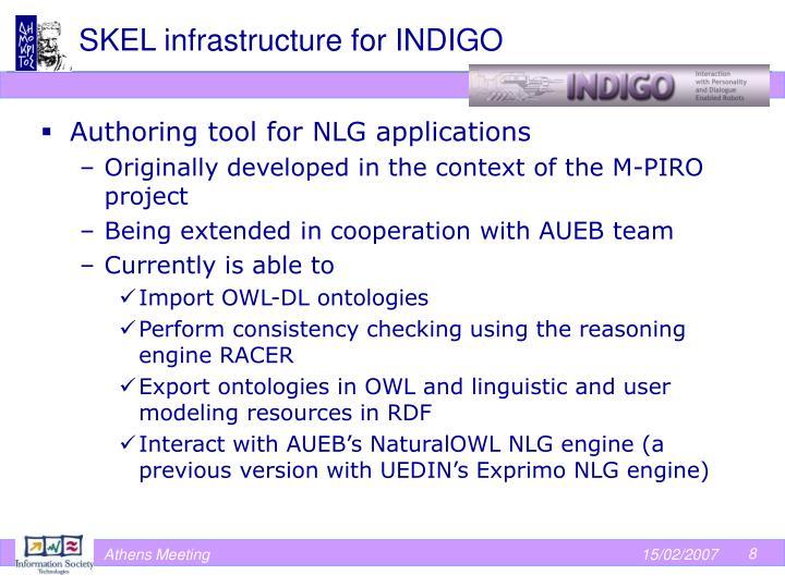 SKEL infrastructure for INDIGO