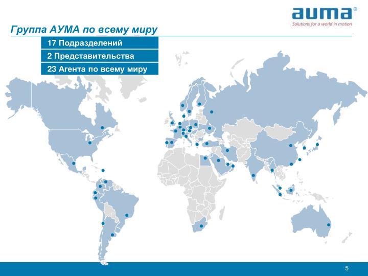 Группа АУМА по всему миру