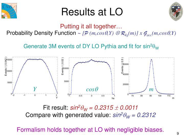 Results at LO
