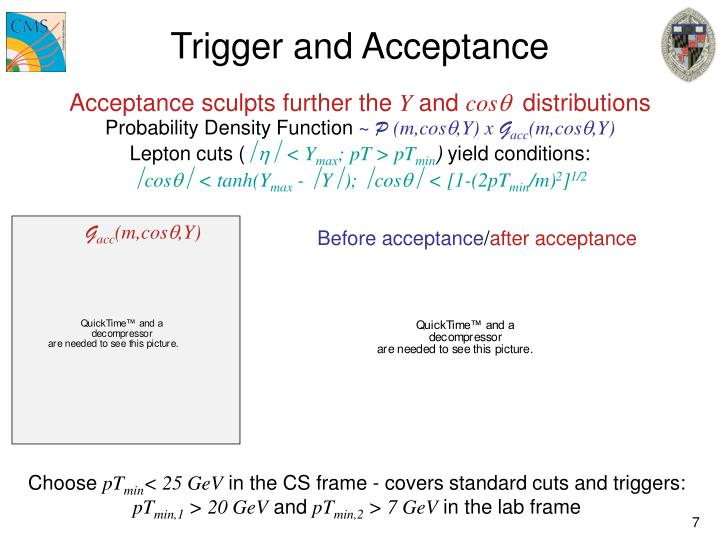 Trigger and Acceptance