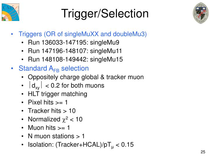 Trigger/Selection