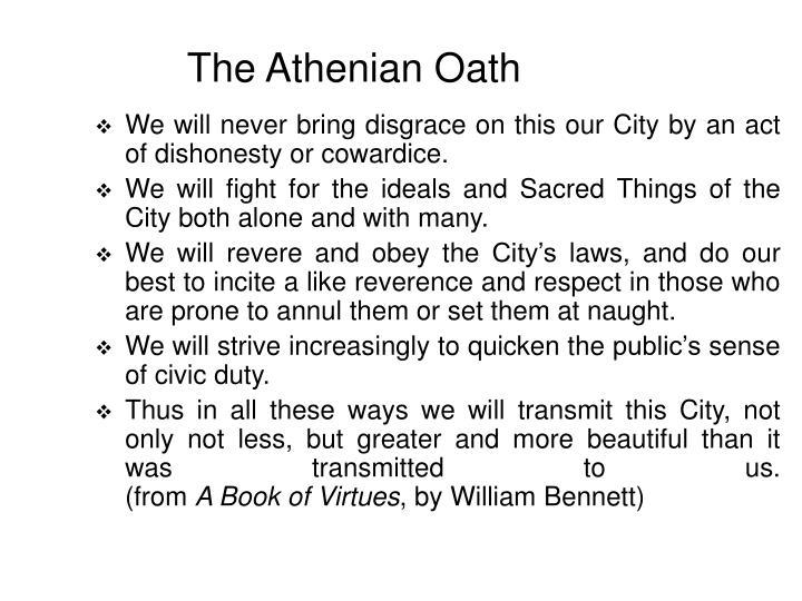 The Athenian Oath
