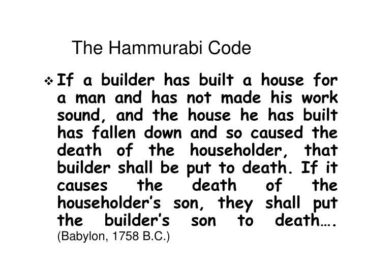 The Hammurabi Code