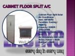 cabinet floor split a c