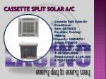 cassette split solar a c