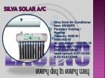 silva solar a c