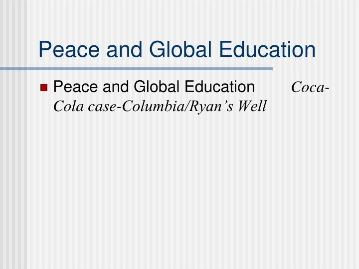 Peace and Global Education