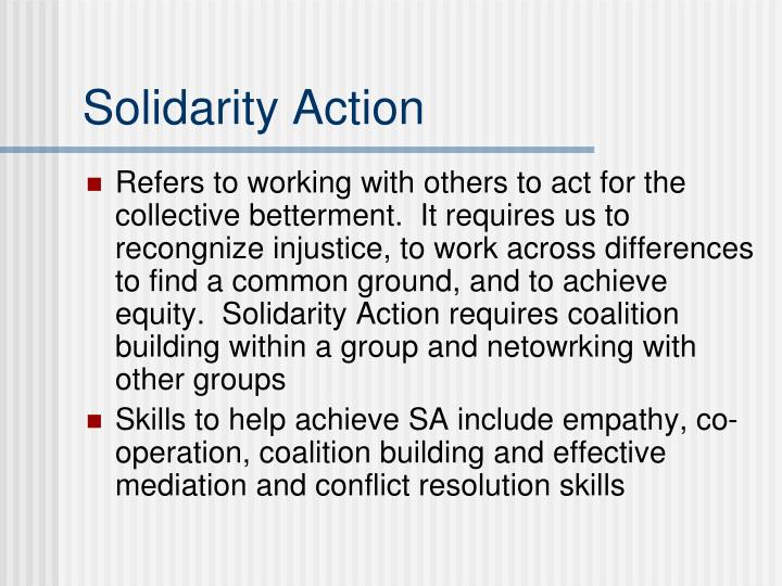 Solidarity Action