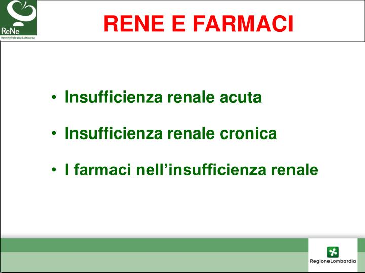 RENE E FARMACI