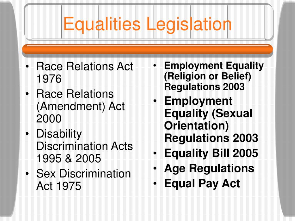 The sex discrimination act 1995