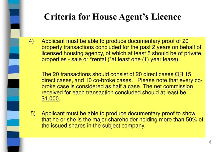 Criteria for house agent s licence2