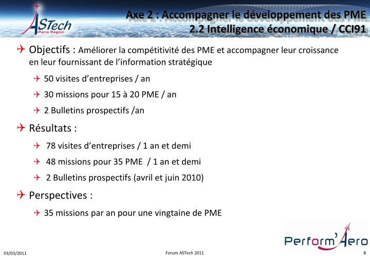 Axe 2 : Accompagner le développement des PME