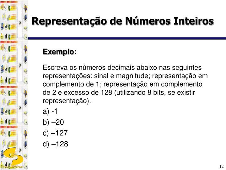 Representação de Números Inteiros