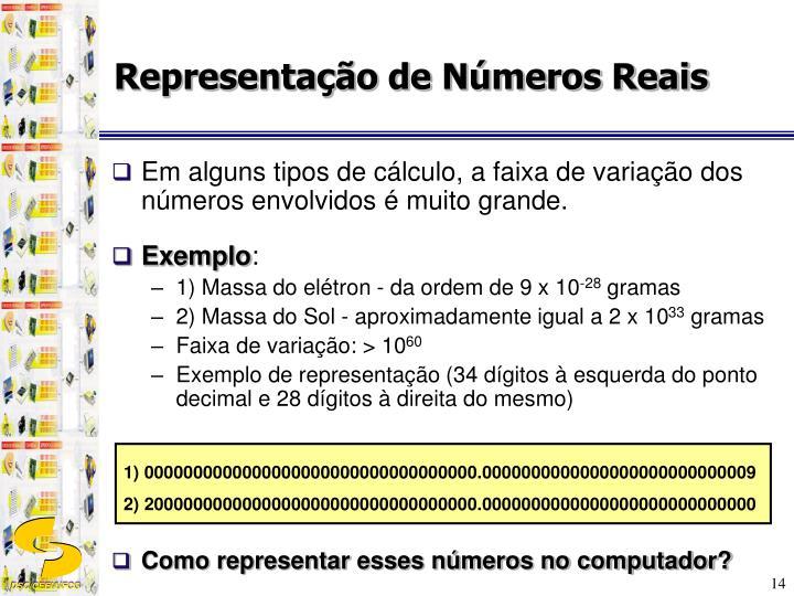 Representação de Números Reais