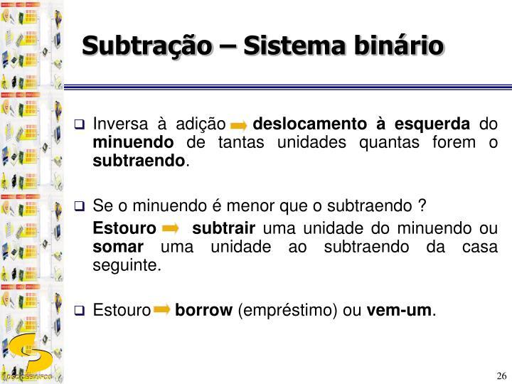 Subtração – Sistema binário