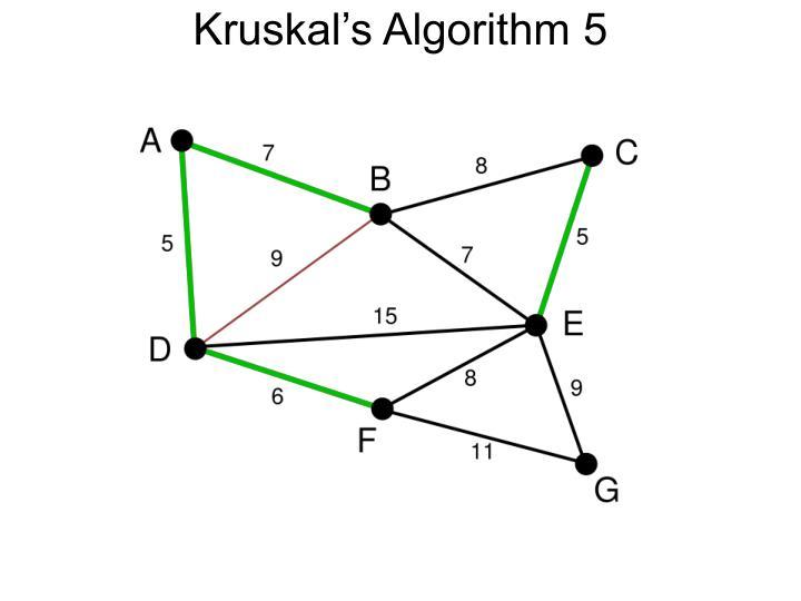 Kruskal's Algorithm 5