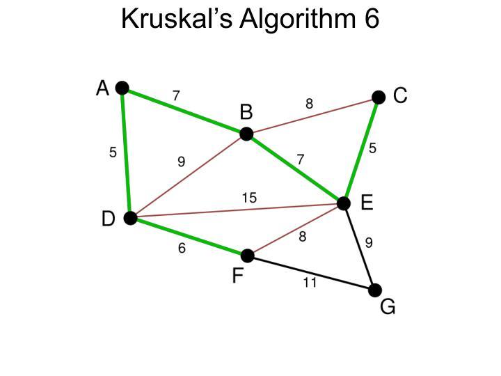 Kruskal's Algorithm 6