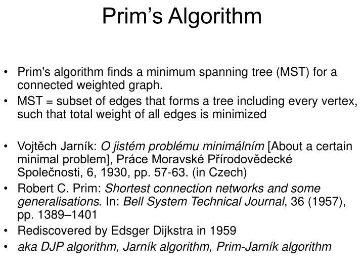 Prim s algorithm