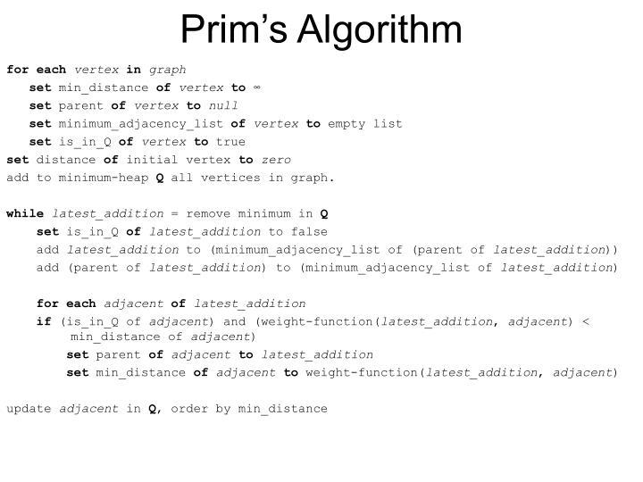 Prim s algorithm1