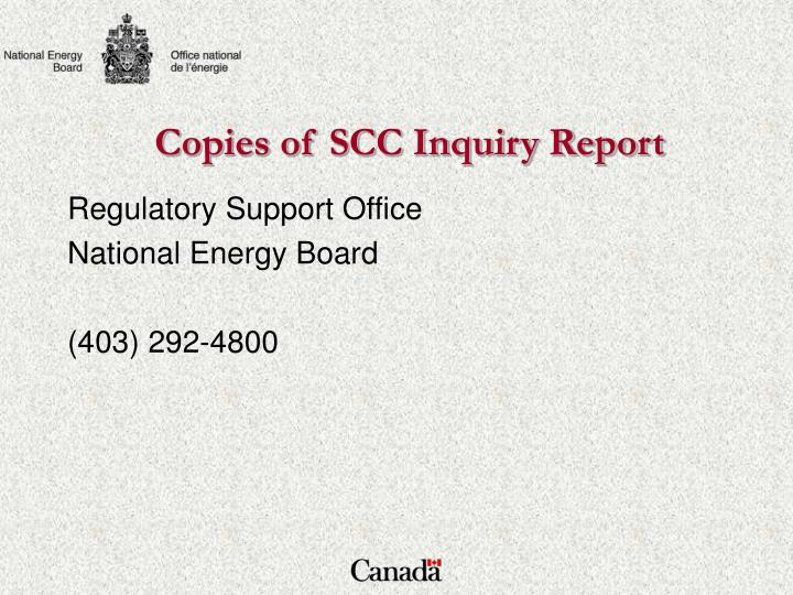 Copies of SCC Inquiry Report