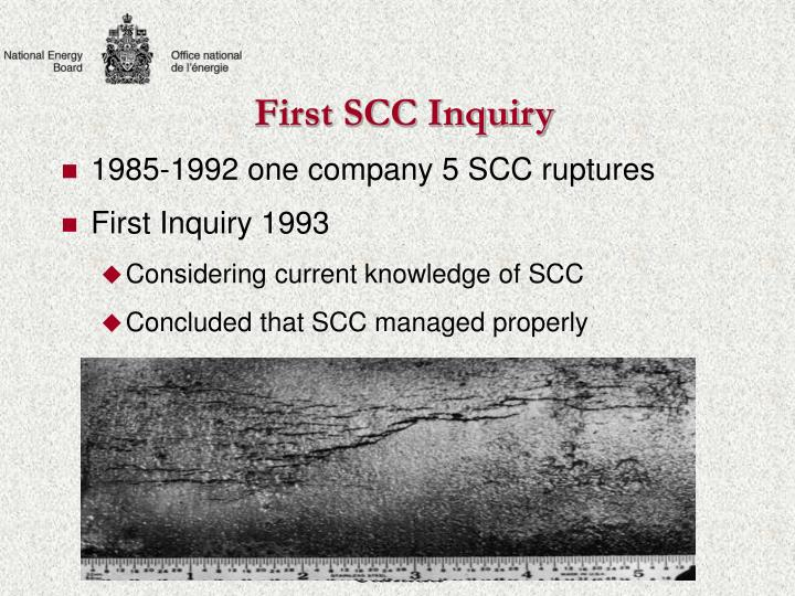 First scc inquiry