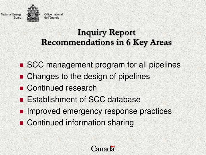 Inquiry Report