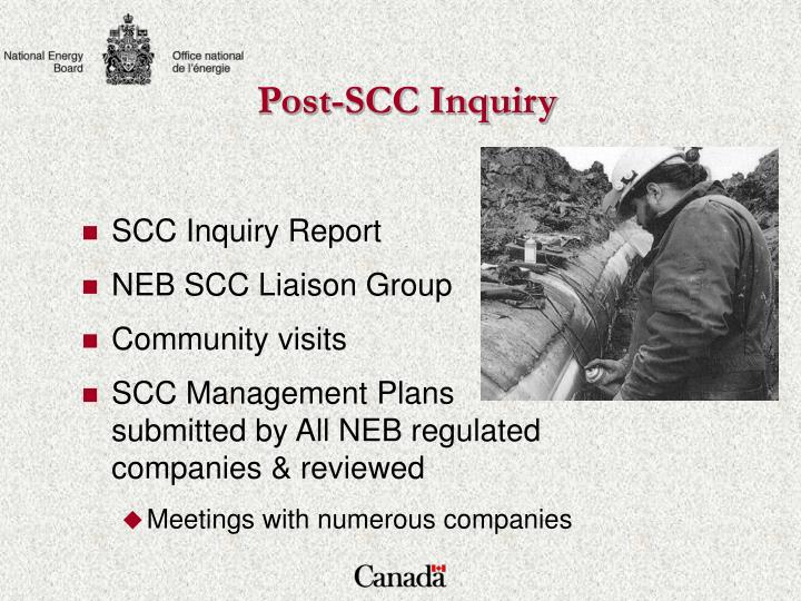 Post-SCC Inquiry