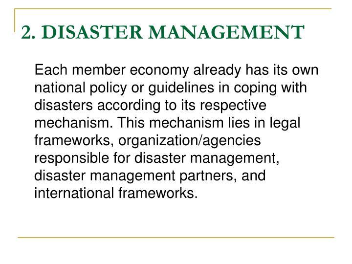 2. DISASTER MANAGEMENT