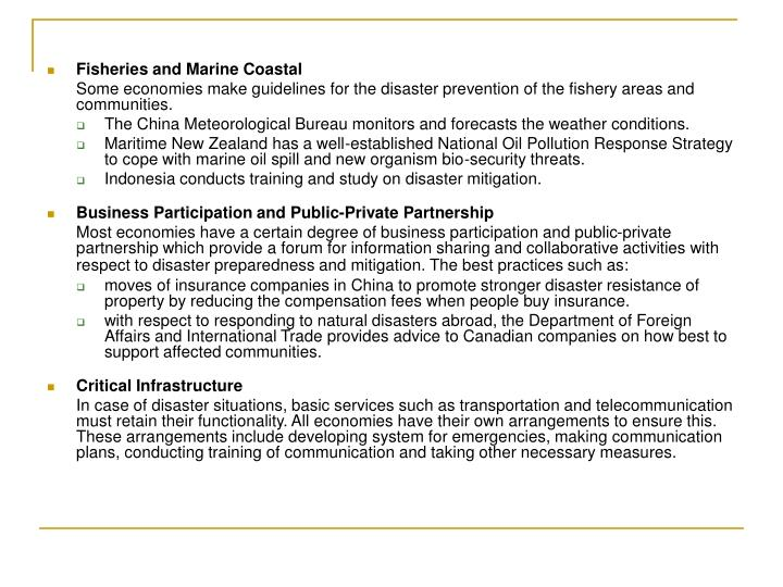 Fisheries and Marine Coastal