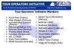 tour operators initiative members