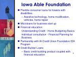 iowa able foundation