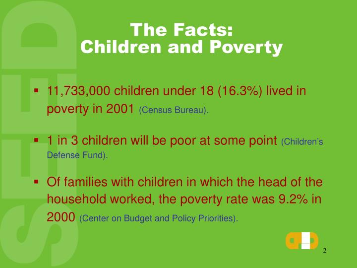 The facts children and poverty