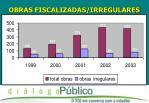 obras fiscalizadas irregulares