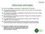 informed attitudes